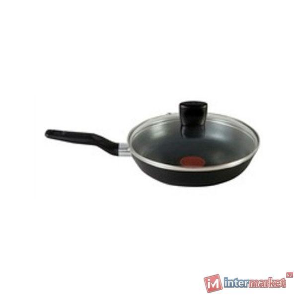 Сковорода 26 со стекл.крышкой JUST Black Tefal 040 82 110