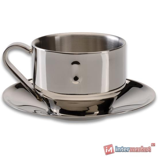 Чашка для капучино с блюдцем BergHOFF Straight 1107080
