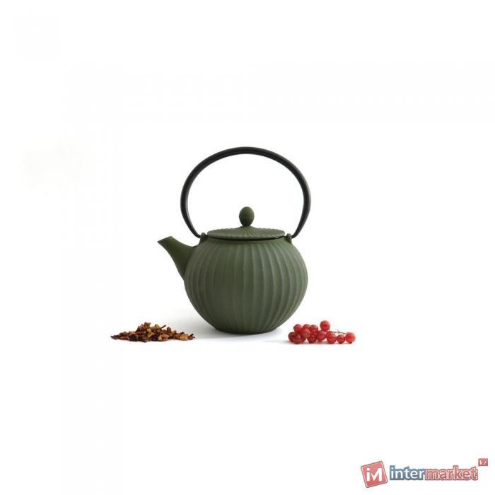 Чугунный чайник 1,3л STUDIO зеленый 1107118