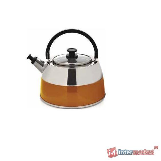 Чайник Berghoff Virgo 2304168 со свистком оранжевый 2,5л