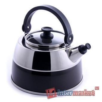 Чайник Berghoff Virgo 2304169 со свистком черный 2,5л