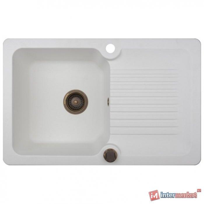 Врезная кухонная мойка Kuppersberg ANCONA 1B1D WHITE