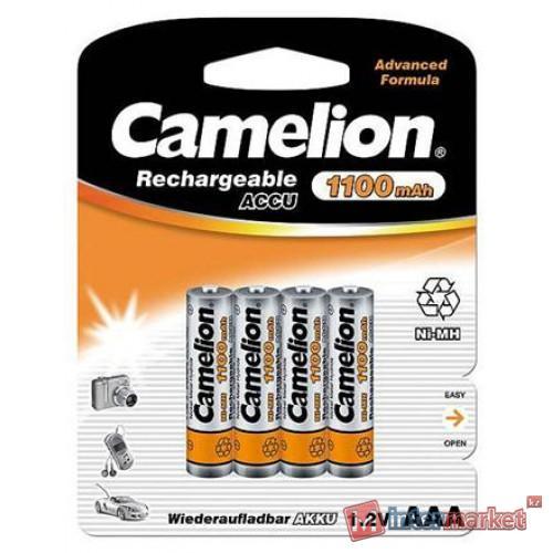 Аккумуляторы Camelion AAA, NiMH, 1100mAh/1.2V, комплект - 4 штуки