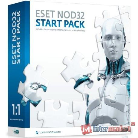 Антивирус NOD32 Start Pack, NOD32-ASP-NS(BOX)-1-1, подписка на 1 год, на 1 ПК, Box