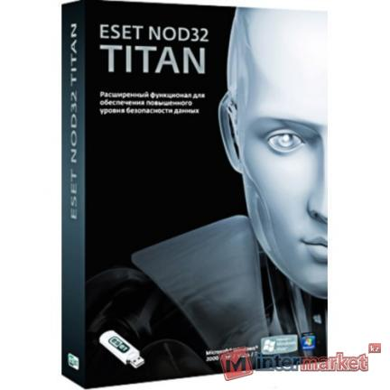 Антивирус NOD32 Titan, NOD32-EST-NS(BOX)-1-1, подписка на 1 год, на 1 ПК, box