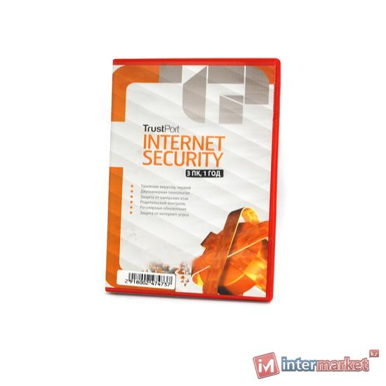 Антивирус TrustPort, Internet Security, подписка на 1 год, на 3ПК, box