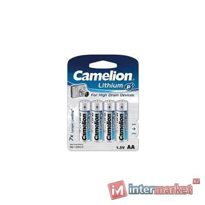 Батарейки Camelion AA (FR6-BP4), Lithium, комплект - 4 штуки