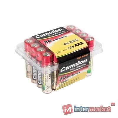 Батарейки Camelion AAA (LR03-PB24), alkaline Plus, комплект - 24 штуки