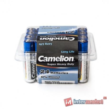 Батарейки Camelion AAA (R03P-PB24B), super heavy duty, комплект - 24 штуки