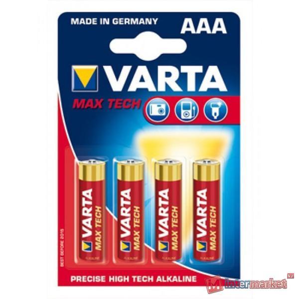 Батарейки Varta AAA (LR03/MN2400), Max Tech, alkaline, комплект - 4 штуки, [4703-4]