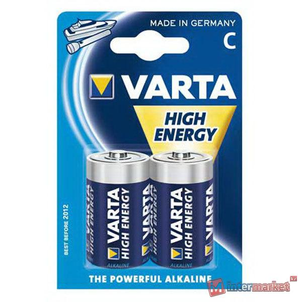 Батарейки Varta C (LR14/MN1400), High Energy, комплект - 2 штуки [4914-2]
