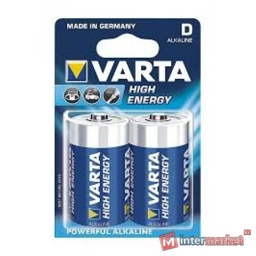 Батарейки Varta D (LR20/MN1300), High Energy, комплект - 2 штуки [4920-2]