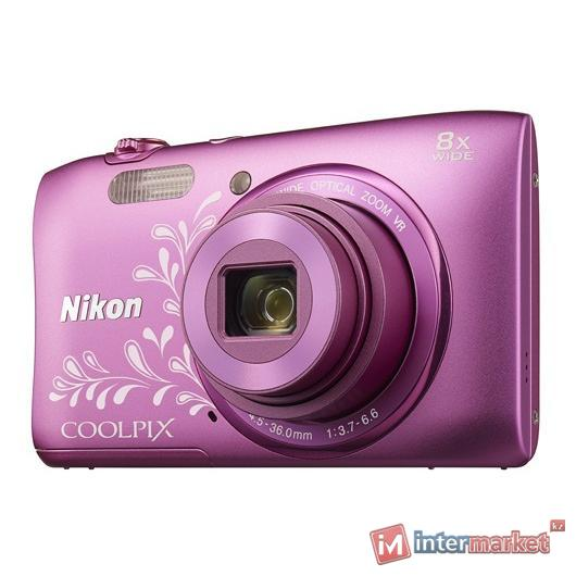 Фотоаппарат Nikon Coolpix S3600, Pink Lineart