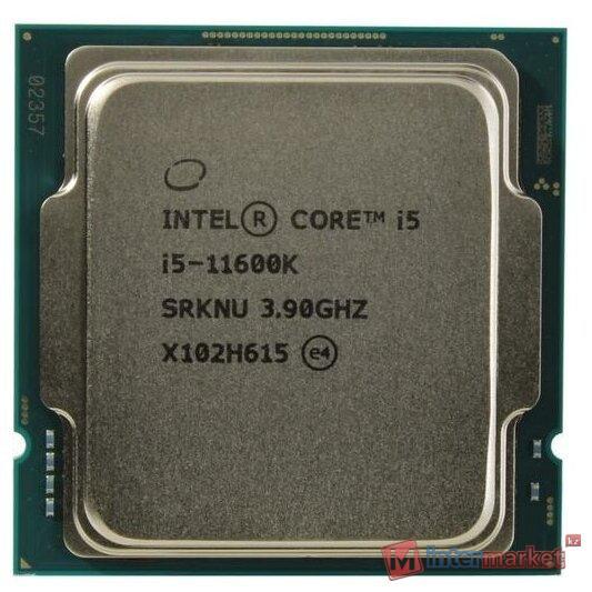 Процессор CPU Intel Core i5-11600K 3,9GHz (4,9GHz) 12Mb 6/12 Rocket Lake Intel® UHD 750 125W FCLGA1200 Tray