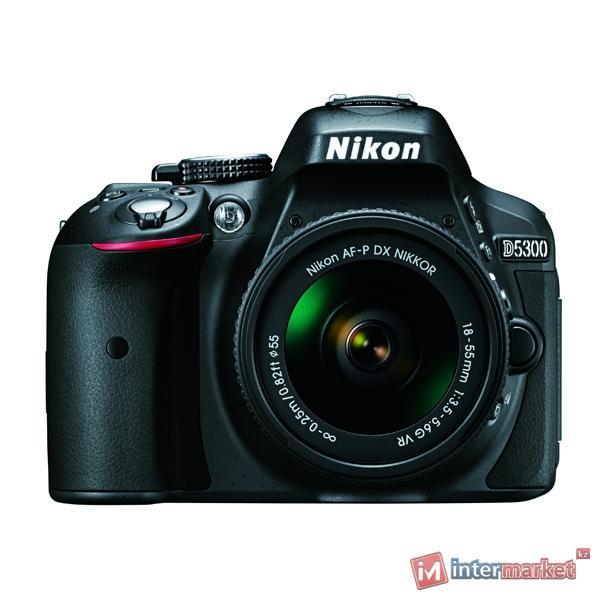 Цифровая зеркальная фотокамера Nikon D5300 + AF-P 18-55 VR Kit