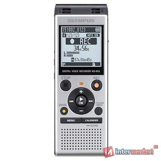 Диктофон цифровой Olympus WS-852, 4Gb, Silver