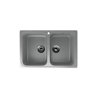 Врезная кухонная мойка EcoStone ES-23 309 темно-серый