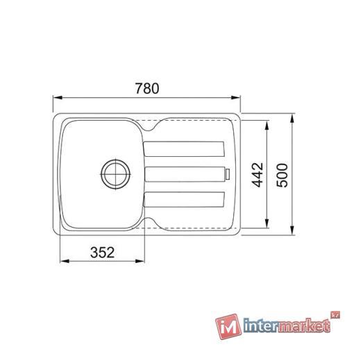 Врезная кухонная мойка FRANKE AZG 611-78