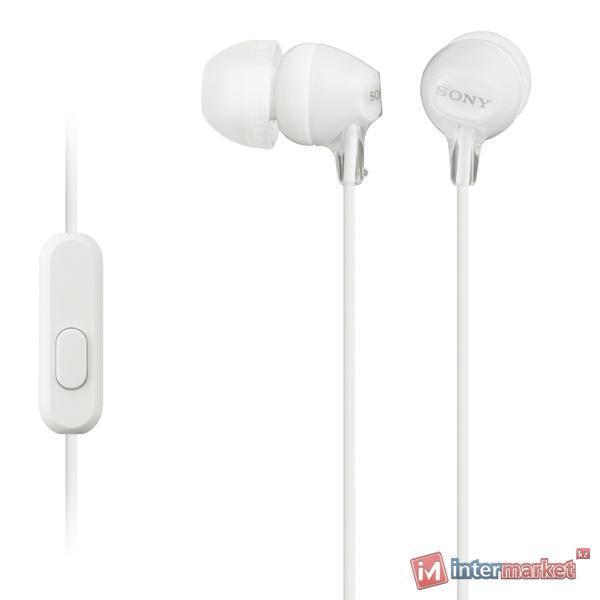 Гарнитура Sony MDR-EX15AP, White