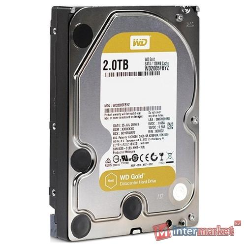 Жесткий диск Western Digital WD Gold 2 TB (WD2005FBYZ)