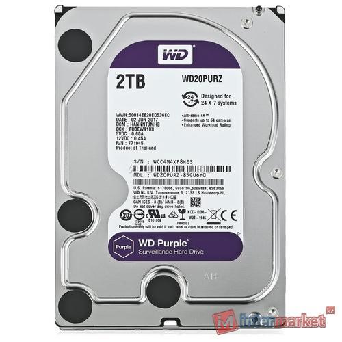 Жесткий диск Western Digital WD Purple 2 TB (WD20PURZ)