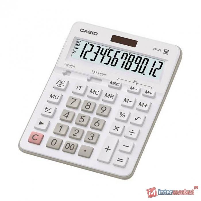 Калькулятор настольный CASIO GX-12B-WE-W-EC