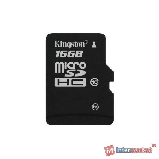 Карта памяти Kingston Class 10 MicroSDHC 16GB