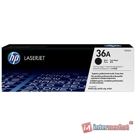 Черный лазерный картридж HP 36A LaserJet (CB436A)