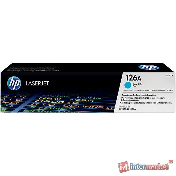 Картридж HP CE311A, Black