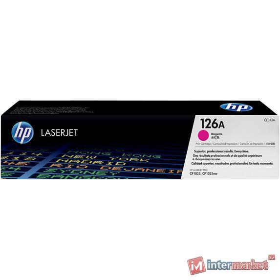 Картридж с тонером HP 126A LaserJet, пурпурный (CE313A)