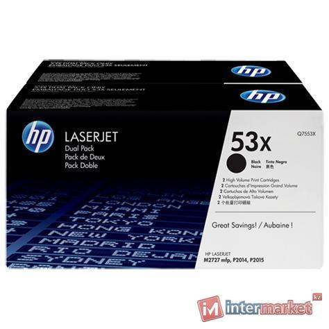 Набор картриджей HP Q7553XD Dual Pack, Black (2 шт.)