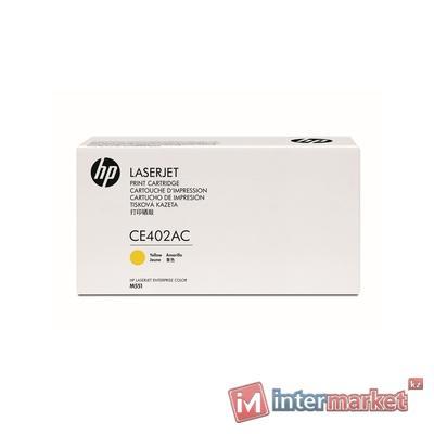 Картридж лазерный HP CE402AC Yellow