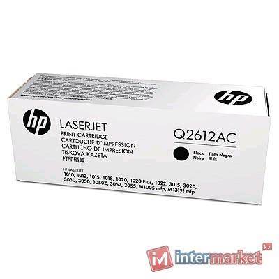 Картридж лазерный HP Q2612AC Black