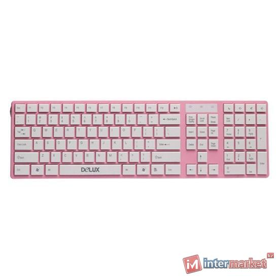 Клавиатура Delux DLK-1000UP Pink