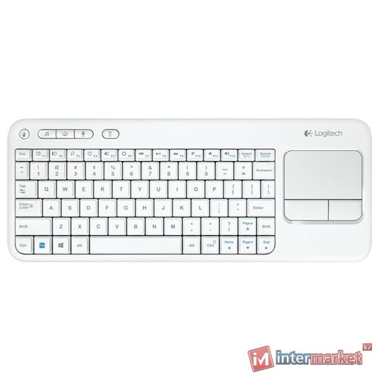 Клавиатура Logitech Wireless Touch Keyboard K400 White USB