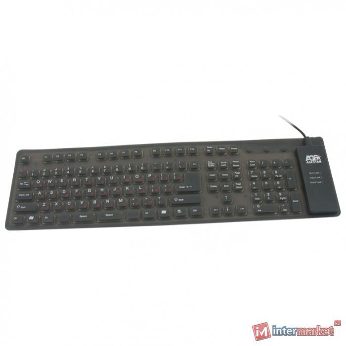 Клавиатура Agestar AS-HSK810FA EL Black USB+PS/2