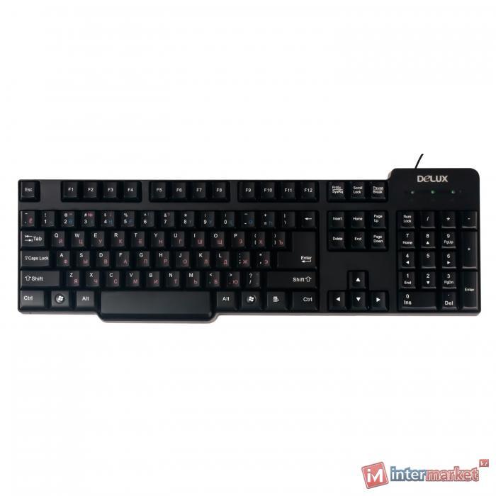 Клавиатура Delux DLK-8050, Black, USB