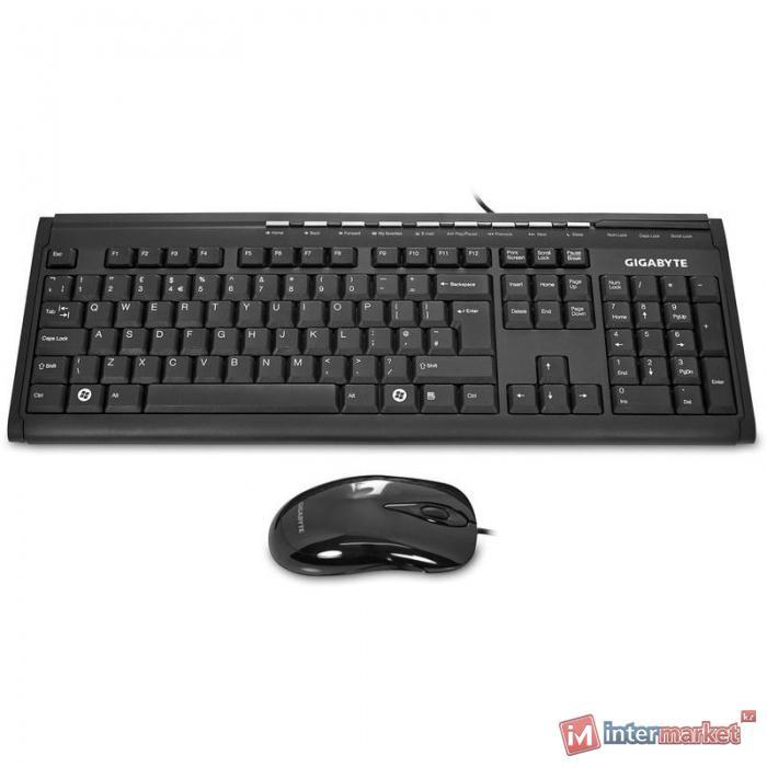 Клавиатура Gigabyte GK-KM6150, Black + мышь