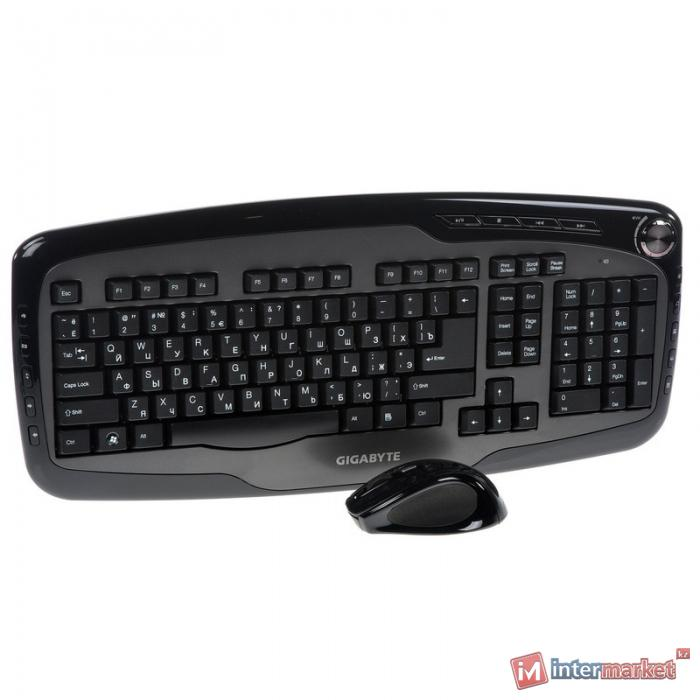 Клавиатура Gigabyte GK-KM7600, Black-Gray, USB + мышь