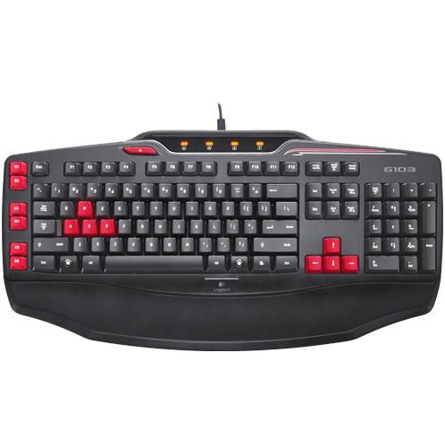 Клавиатура Logitech G103, Black, USB
