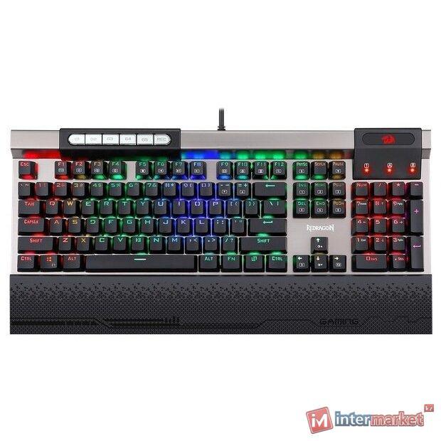 Клавиатура проводная игровая механическая Redragon Surya 2 RU,RGB (Черный), USB, ENG/RU