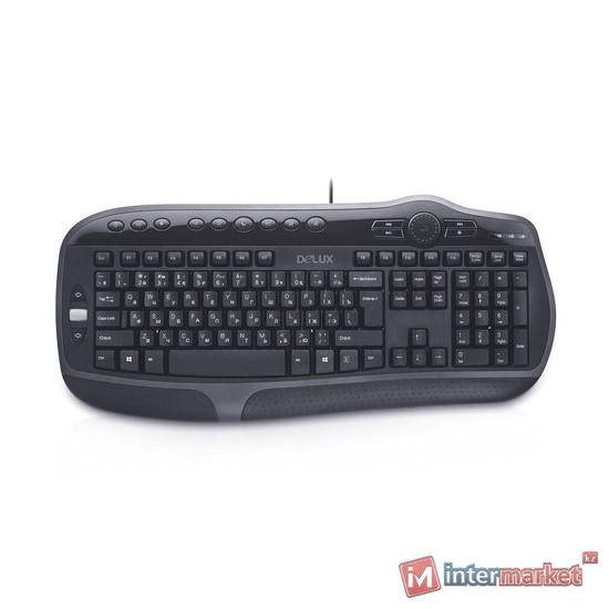 Клавиатура проводная USB Delux DLK-9050UB Black