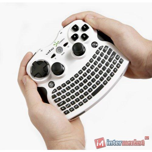 Клавиатура Veho MIMI-KEY-003 Wireless, White/Black, USB + 3D мышь