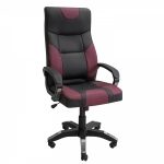 Кресло игровое Zeta Радмир эко-кожа черный, красный