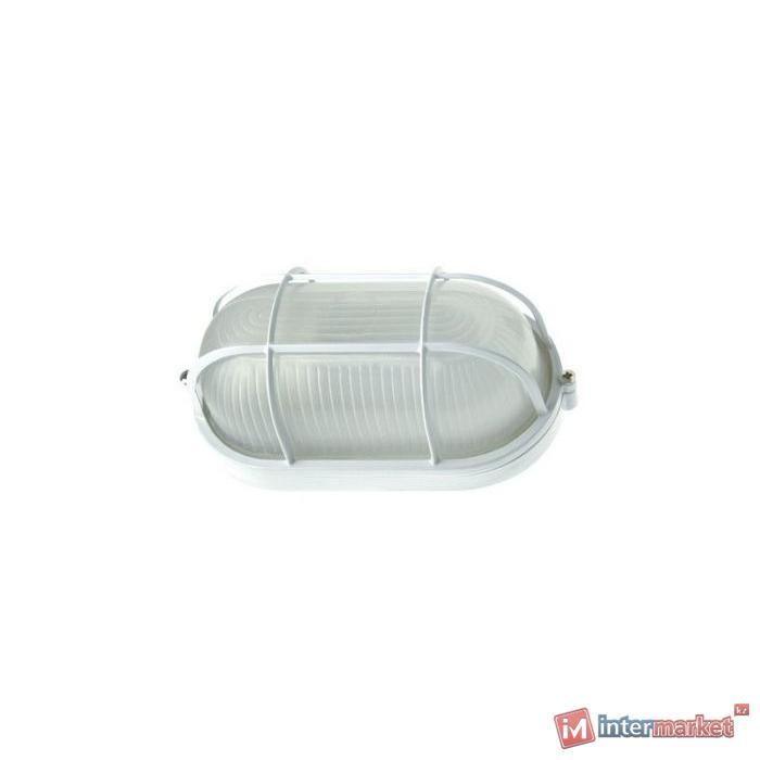 Светильник НПП 1202 белый/овал с решеткой 100Вт IР54