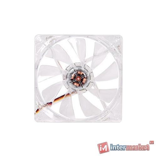 Кулер для кейса Thermaltake Pure 12 LED DC Fan Blue, Прозрачный