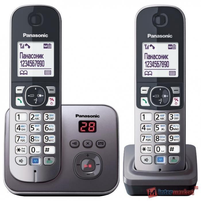 Радиотелефон Panasonic KX-TG6822, Black