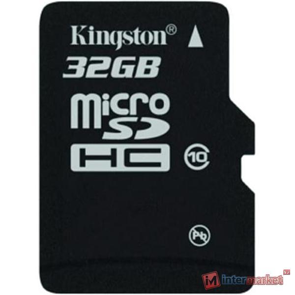 Карта памяти Kingston 32GB microSDHC Class 10 Flash Card Single Pack + Adapter