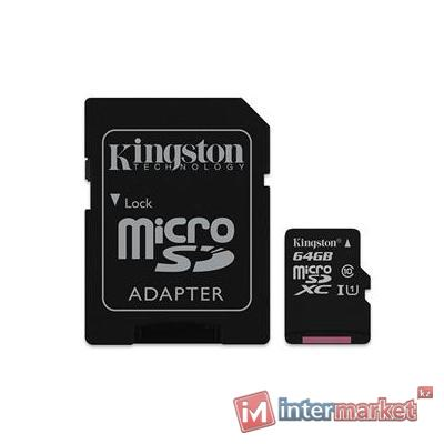 Карта памяти Kingston MicroSD 64GB 10 Class+A (SDCX10/64GB)