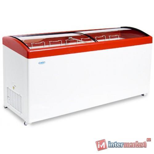 Морозильный ларь МЛГ-600 красный